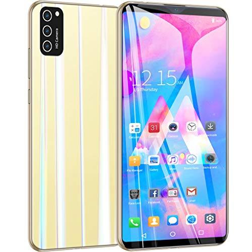 M30S Smartphone, 5,99 Zoll LCD Bildschirm Gesichtserkennung Entsperren Smartphone,Dual SIM,1 GB RAM + 8 GB ROM Erweiterter Speicher 64 GB,Android 6.1,MTK6580 Quad Core (Yellow)