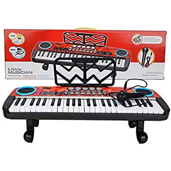 49 Key Keyboard Piano with Microphone Portable Electronic Kids Keyboard Piano Educational Toy