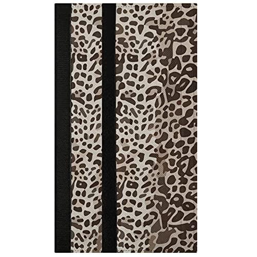 Oarencol Juego de 2 fundas para manija de puerta, diseño de leopardo, estilo vintage, para frigorífico, horno y lavavajillas