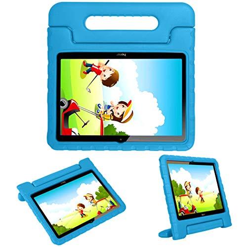 iMoshion kompatibel mit Huawei MediaPad T3 10 inch Hülle – Tablethülle für Kinder – Tablet Kids Hülle in Blau mit Griff & Ständer [Robust, Handgriffig, Stoßfest]