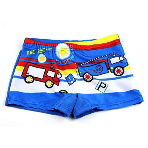 Ruluti Baby-Badehose Auto Print Cartoon Badeanzug Kinder Badeshorts Kinder Kleinkind Strand-Badebekleidung Pool Shorts Größe L