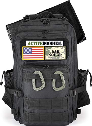 ActiveDoodie Dad Diaper Bag for Men with Tactical Advantage Gear, Changing Pad, Stroller Straps, Bottle Pouch, Included Patches, Diaper Bag for Dad