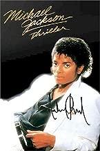 Michael Jackson Facsimile Signature Thriller Album Cover Poster - Sports Memorabilia