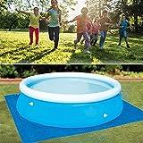 Swimmingpool Square Ground Cloth Lippenabdeckung Staubdichte Boden-Stoffmattenabdeckung für Villa-Gartenpool im Freien, sichere und verschleißfeste Poolmatte, aufblasbare Poolmatte, rechteckiger