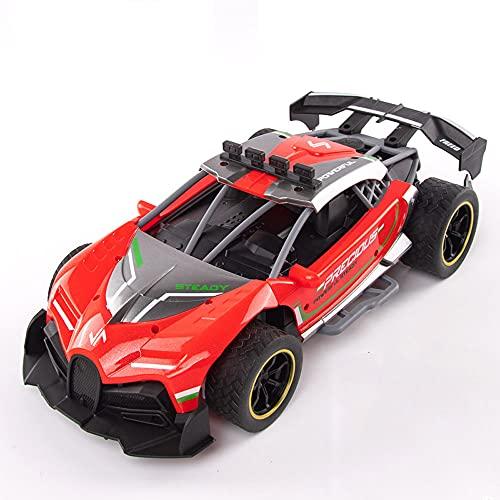 ZDYHBFE Coche deportivo de alta velocidad Coche eléctrico de control remoto Niño niña Coche de juguete RC Spray Coche de carreras Coche de deriva 2.4G Coche mecánico 1:12 Demostración totalmente autom