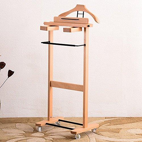 POETRY Coat and hat rack beuken verwijderbaar pak huishoudelijke multifunctionele kleding rack trolley jas rack vrijstaande