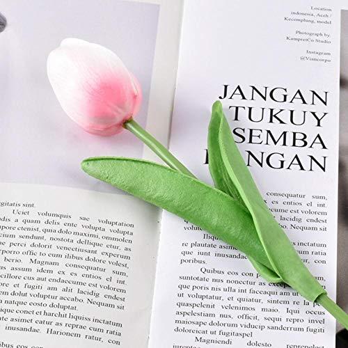 OGM 10st Tulp Kunstbloem Wit PU Nep Tulpen Bloemen Boeket
