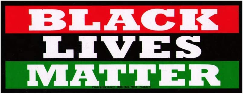 Black Lives Matter decal BLM Movement