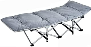 Home Outdoor/Folding Bed Outdoor Camping Open-air Outing Single Lunch Break Chair Portable (Size : A)