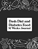 Dash Diet and Diabetes Food Journal: A Daily Log for Tracking Blood Sugar, Nutrition, Weekly Meal and Plan 52 Weeks Blood Sugar Level Recording Book, ... Lunch, Dinner, Before & After Tracker