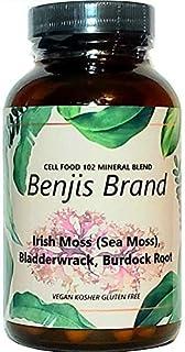 Sea Moss Bladderwrack Burdock Root Capsules (100) Organic Vegan Kosher
