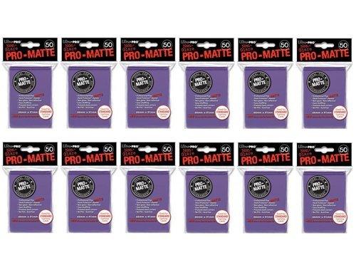 Ultra Pro 600 Purple PRO-Matte Deck Protectors Sleeves Standard MTG Colors image