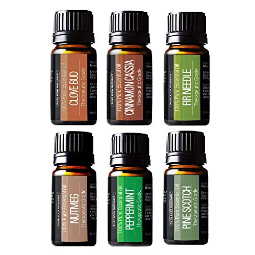 Pure Body Natural Essential Oils Set, 100% Pure Aromatherapy Diffuser Oils, Sample Kit for...
