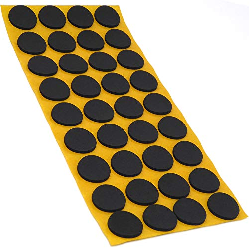 36 x Antirutsch Pads aus EPDM/Zellkautschuk | rund | Ø 24 mm | Schwarz | selbstklebend | Rutschhemmende Pads inTop-Qualität (2.5 mm)