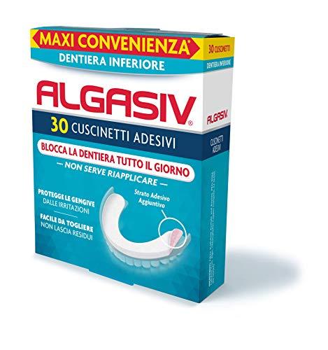 Algaisiv Cuscinetti Adesivi per dentiera inferiore, 30 pezzi. Dura tutto il giorno. Tenuta 20 volte più forte