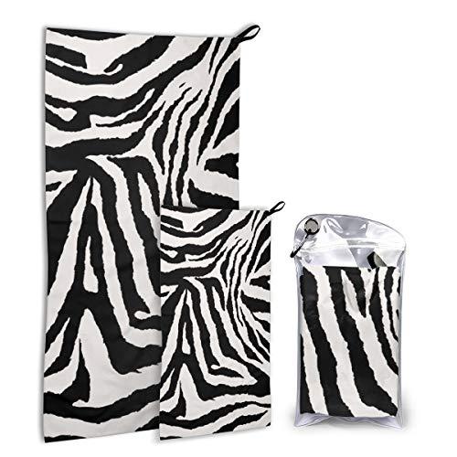 Hipiyoled Toallas de Secado rápido Leopard Texture (19) Juego de Toallas de Mano de Viaje de 2 Piezas para Mano, Gimnasio, SPA, Camping