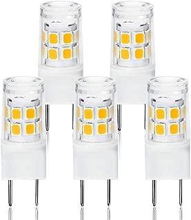 LED G8 Light Bulb, G8 GY8.6 Bi-pin Base LED, Not Dimmable T4 G8 Base Bi-pin Xenon JCD Type LED 120V 50W Halogen Replacement Bulb for Under Counter Kitchen Lighting(5-Pack) (G8 3000K)