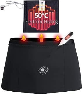 Picotee Waist Trimmer Belt Core Sweat Waist Trainer Belt Heating 50℃ Massage Sauna Belt Accelerate Fat Burning Weight Loss Body Shape