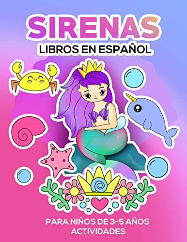 Libros en español para niños de 3-5 años: Sirenas y actividades