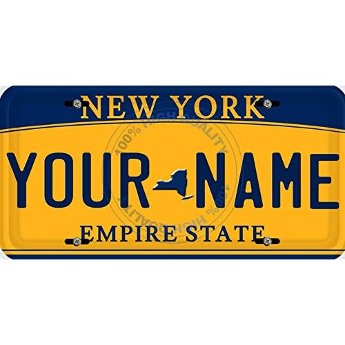 Car & Truck Parts Personalized Custom New York State License Plate Any Name Novelty Auto Car Tag