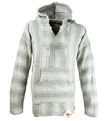 Funny Guy Mugs Premium Baja Hoodie Sweatshirt Pullover Jerga Poncho (Grey Squirrel, Medium)