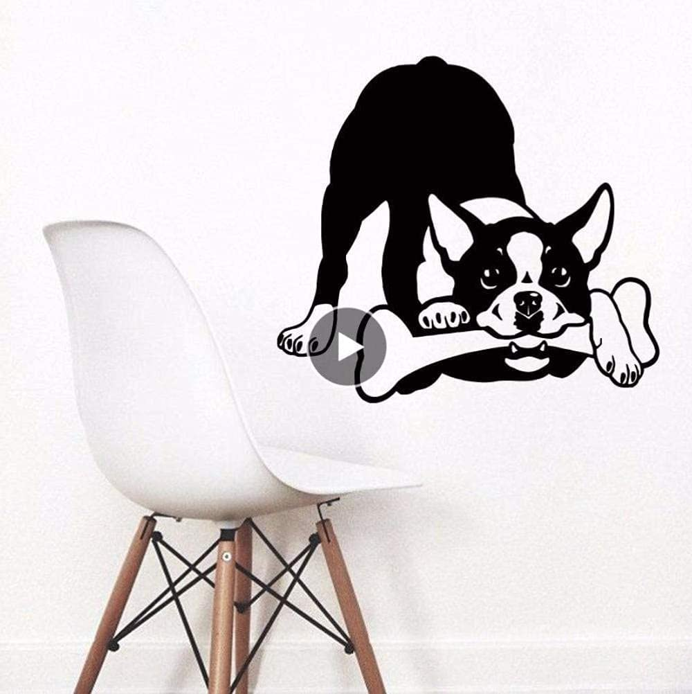 LORBAY Art Fashion Wall High quality new Decals Removable Max 90% OFF Dog Boston Terrier
