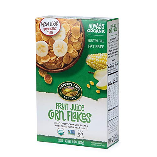 Nature's Path Organic Cereal, Fruit Juice Corn Flakes, 10.6 Oz Box