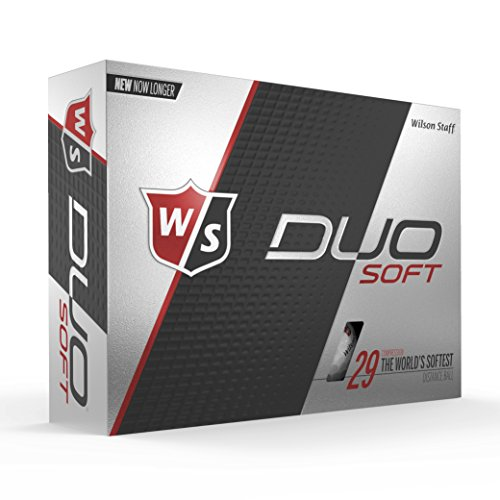 Wilson Staff DUO Golf Ball, Soft, White