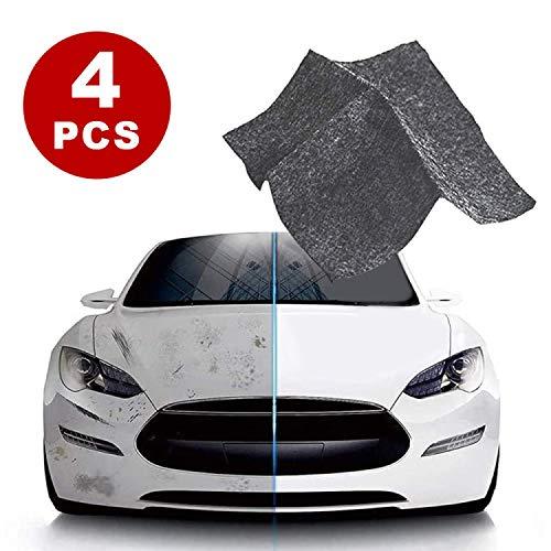 Nano Sparkle Tuch, Nano Magic Tuch für Auto Kratzer Entfernen,Mehrzweck Car Scratch Remover für Reparatur von leichten Kratzfarben,Lackpflege, Detailing, Autoreinigung,Nanotechnologie(4 Stück)