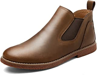Men's Fashion Chelsea Boots Superficial Classic British Style Solid Colour Simple Ankle Boot Men's Fashion (Color : Brown, Size : 44 EU)