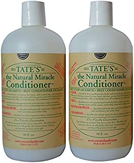 Tate's Family Hair and Lotion Natural Miracle 18oz Conditioner - Pack of 2 Natural Ingredients Body Lotion