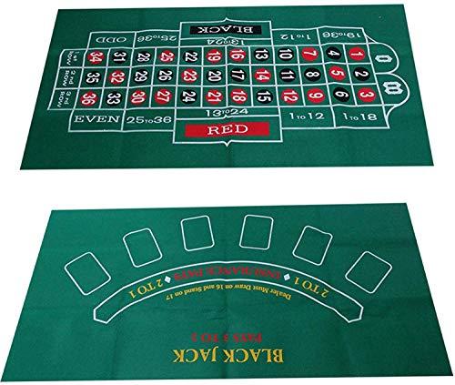 Blackjack Und Craps Tischfilz Layout, Wasserdicht Blackjack Und Roulette Tischfilz Casino Poker Gaming Tischplatte Layout Stoffkarte Tisch