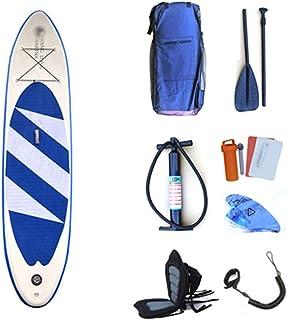 Juego de tablas de surf SUP ligeras for tablas de surf hinchables for deportes acuáticos juveniles for todos los niveles de habilidad Tabla de surf ( Color : Blue with seat , tamaño : 320x76x15cm )