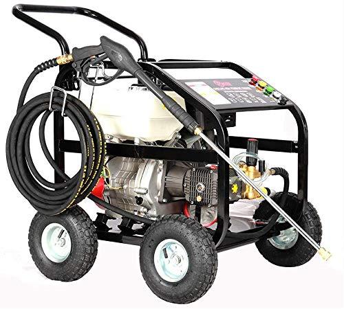FIDOOVIVIA Benzin Leistungs Waschmaschine Mobil Jet Reiniger zum Reinigen Autos, Patios, Gebäuden, 15PS Benzinmotor, mit LB-P250A Kurbelwelle 10-Zoll-Air Räder 10 Meter Hochdruckschlauch pumpt dljyy