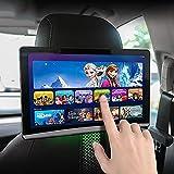 MXLPAS Monitor per Poggiatesta TV per Auto, Touch Screen da 12,5 Pollici Android 9.0 4K 1080P, WiFi/Bluetooth/USB/SD/Hdmi/FM/Lettore Video con Collegamento A Specchio,2PCS