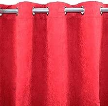 LA MAISON DAMELIE Rideau /à Oeillets 140x260 cm Microfibre SODK Rouge
