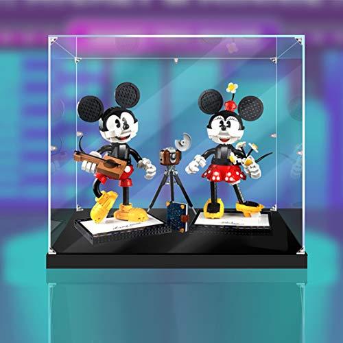 Giplar Vitrina de Acrílico Compatible con Lego 43179 Mickey Mouse and Minnie Mouse, Vitrina A Prueba De Polvo Caja de Exhibición (Juego de Modelo No Incluido)