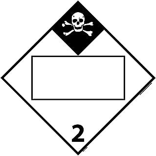 DL151BR National Marker Dot Placard Inhalation Hazard Sign 2, Blank, 10.75 Inches x 10.75 Inches, Rigid Plastic