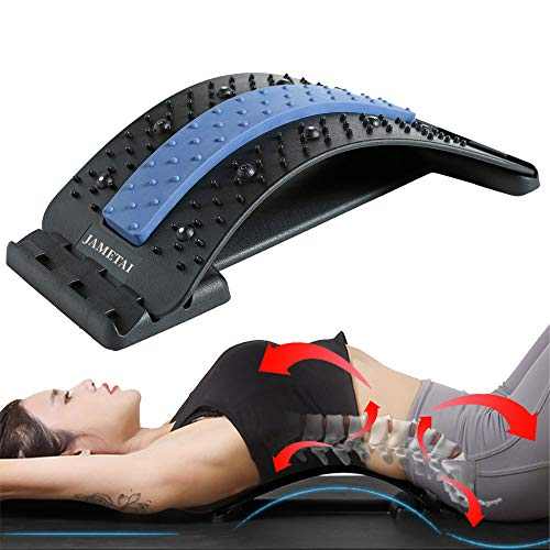Back Stretcher, Backright Lumbar Relief Lower Back Stretcher, Multi-Level Back Massage Stretcher...