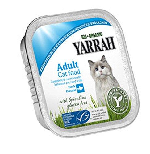 Yarrah 16-VE bio karma dla kotów bułka kurczak z rybą 100 g miseczka