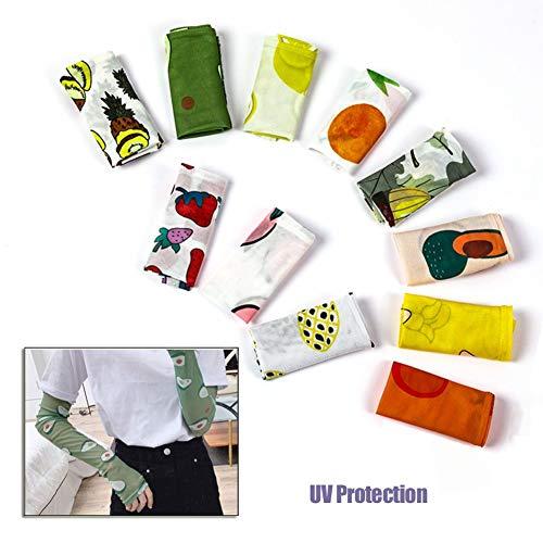 Manguitos Unisex Sports Manguitos de enfriamiento Solar Protección UV Manguito Mangas de protección UV para Ciclismo de Brazo Larga Todas Actividades al Aire...