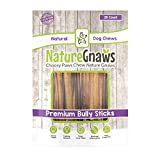 Nature Gnaws Small Bully Sticks (25 Count) - 100% Natural Beef Dog Chews