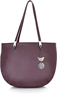 Caprese Mamacita Women's Satchel (Dark purple)