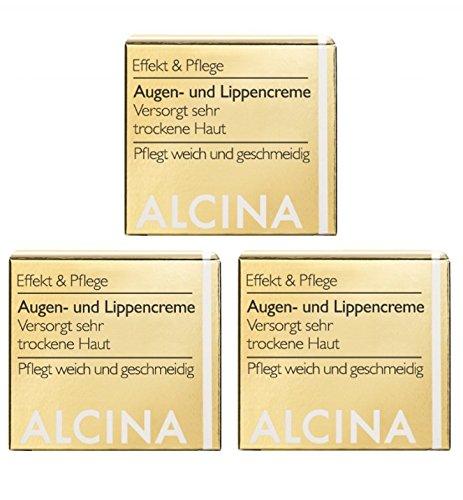 3er E Augen und Lippencreme pflegende Kosmetik Alcina versorgt sehr trockene Haut je 15 ml = 45 ml