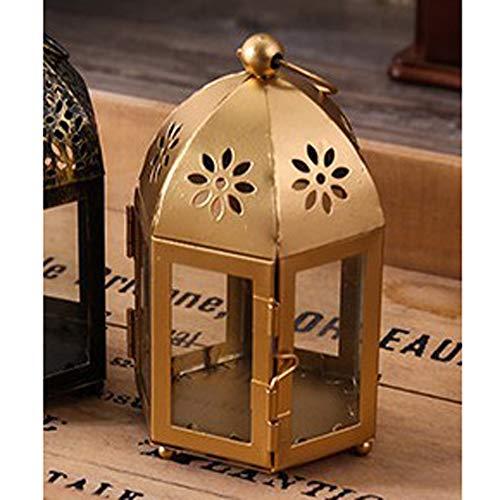 NanXi Kerzenständer für Glaslampe - Kerzenhalter - Iron Wind Lampe von Marokko Schmiede für Hochzeit Home Decoration,E