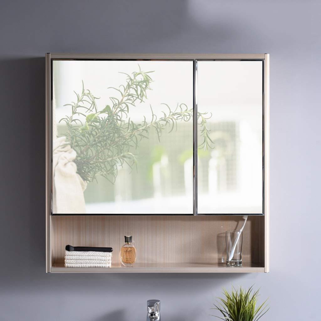 Armarios con espejo de Doble Puerta para baño baño con Puerta Armario de Almacenamiento Acero Inoxidable (Color : Gold, Size : 78 * 12 * 78cm): Amazon.es: Hogar