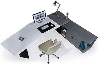طاولة مكتب أمامية جديدة، طاولة تنفيذية 2.4 م، مكتب مدير للمنزل والمكتب، أثاث المكتب مطلي بمسحوق رمادي