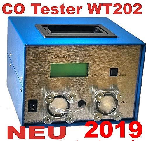 CO-Tester Kohlenmonoxid für GAS Benzin und Diesel Motoren PKW Bus Gabelstapler. Mit Abgaspumpe und hochgenauer Anzeige.