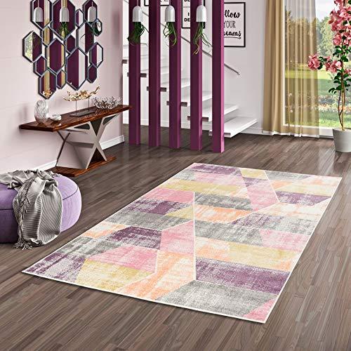 Pergamon Ivy Pastel - Alfombra de diseño - Rosa Morada Trend - 5 tamaños