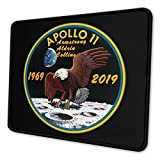 Knusll Apollo 11 50th Anniversary Logo Non Slip Gaming Mouse Pad Thickening for Computers Laptop Office Home 10x12 in
